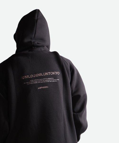 NIL DUE / NIL UN TOKYO / ニル デュエ / ニル アン トーキョー   EMBROIDERY LOGO HOODIE (BLACK) 商品画像10