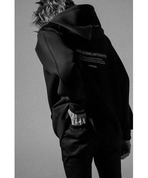 NIL DUE / NIL UN TOKYO / ニル デュエ / ニル アン トーキョー   EMBROIDERY LOGO HOODIE (BLACK) 商品画像4
