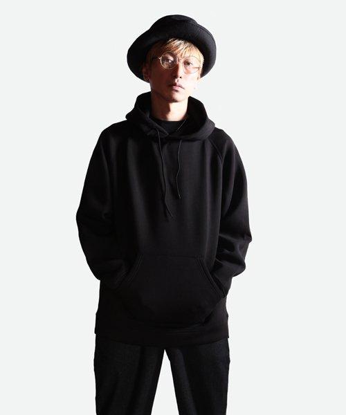 NIL DUE / NIL UN TOKYO / ニル デュエ / ニル アン トーキョー   EMBROIDERY LOGO HOODIE (BLACK) 商品画像7