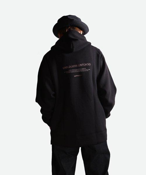 NIL DUE / NIL UN TOKYO / ニル デュエ / ニル アン トーキョー   EMBROIDERY LOGO HOODIE (BLACK) 商品画像8