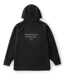 NIL DUE / NIL UN TOKYO / ニル デュエ / ニル アン トーキョー /  EMBROIDERY LOGO HOODIE (BLACK)