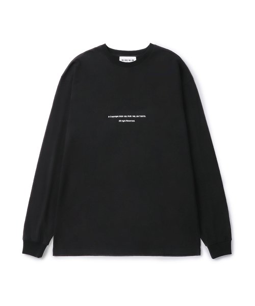NIL DUE / NIL UN TOKYO / ニル デュエ / ニル アン トーキョー   LONG SLEEVE TATTOO TEE (BLACK) 商品画像1
