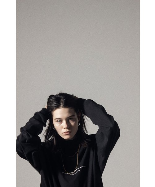 NIL DUE / NIL UN TOKYO / ニル デュエ / ニル アン トーキョー   LONG SLEEVE TATTOO TEE (BLACK) 商品画像3