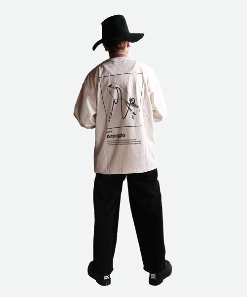 NIL DUE / NIL UN TOKYO / ニル デュエ / ニル アン トーキョー | LONG SLEEVE TATTOO TEE (IVORY) 商品画像7