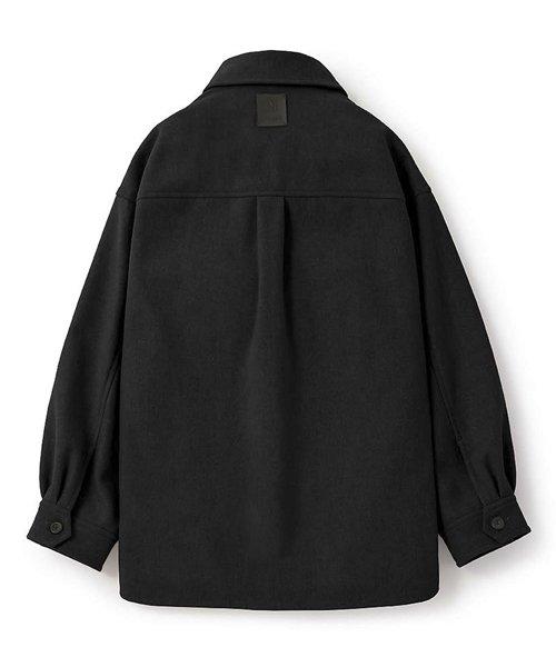 NIL DUE / NIL UN TOKYO / ニル デュエ / ニル アン トーキョー | LEATHER TAG SHIRTS JACKET (BLACK) 商品画像1