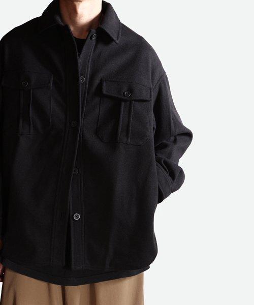 NIL DUE / NIL UN TOKYO / ニル デュエ / ニル アン トーキョー | LEATHER TAG SHIRTS JACKET (BLACK) 商品画像10