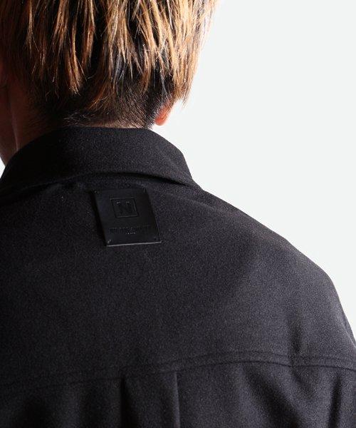 NIL DUE / NIL UN TOKYO / ニル デュエ / ニル アン トーキョー | LEATHER TAG SHIRTS JACKET (BLACK) 商品画像12