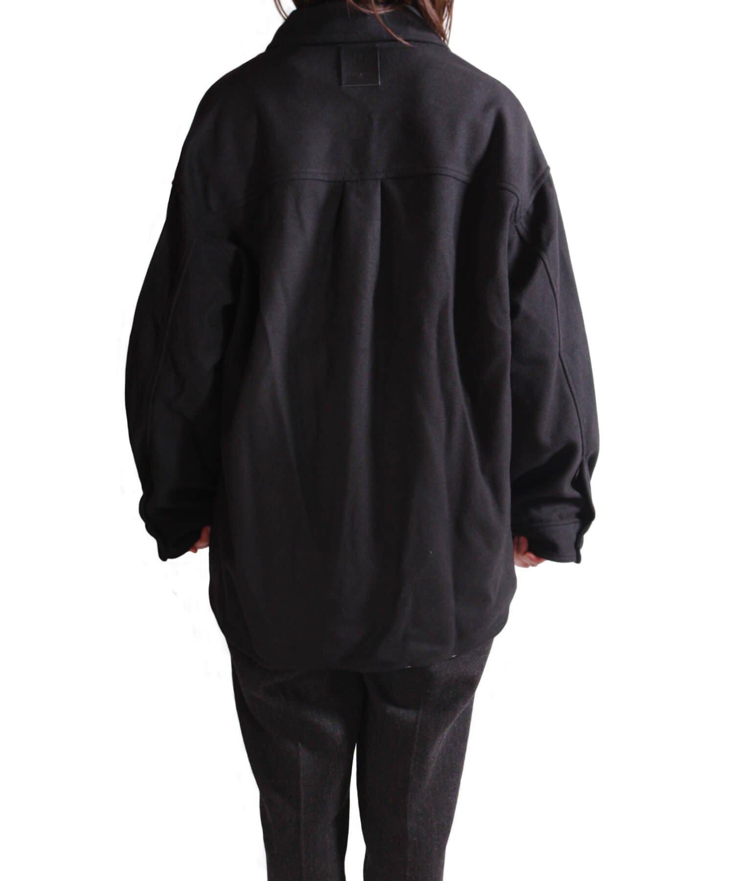 NIL DUE / NIL UN TOKYO / ニル デュエ / ニル アン トーキョー | LEATHER TAG SHIRTS JACKET (BLACK) 商品画像16