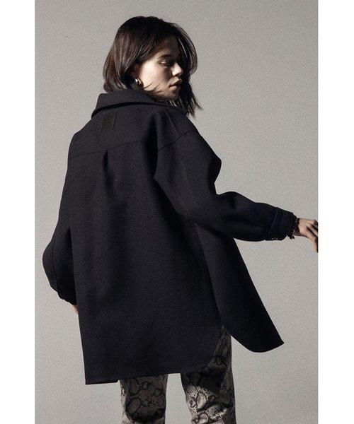 NIL DUE / NIL UN TOKYO / ニル デュエ / ニル アン トーキョー | LEATHER TAG SHIRTS JACKET (BLACK) 商品画像5