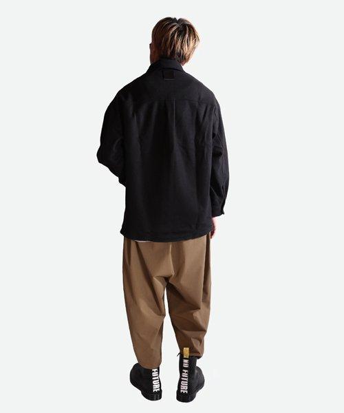 NIL DUE / NIL UN TOKYO / ニル デュエ / ニル アン トーキョー | LEATHER TAG SHIRTS JACKET (BLACK) 商品画像7
