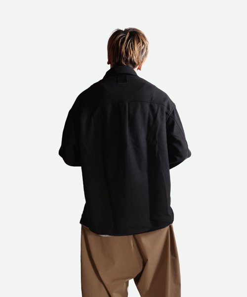 NIL DUE / NIL UN TOKYO / ニル デュエ / ニル アン トーキョー | LEATHER TAG SHIRTS JACKET (BLACK) 商品画像9