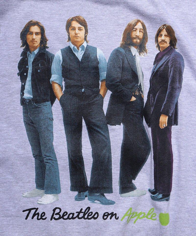 Official Artist Goods / バンドTなど |THE BEATLES / ビートルズ:BEATLES ON APPLE ICONIC T-SHIRT (ASH GRAY) 商品画像2