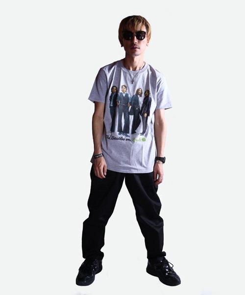 Official Artist Goods / バンドTなど |THE BEATLES / ビートルズ:BEATLES ON APPLE ICONIC T-SHIRT (ASH GRAY) 商品画像8