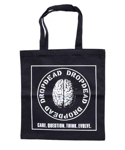 Official Artist Goods / バンドTなど   DROPDEAD / ドロップデッド:BRAIN TOTE BAG (BLACK)商品画像