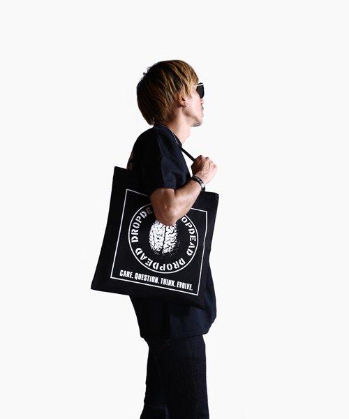 Official Artist Goods / バンドTなど  DROPDEAD / ドロップデッド:BRAIN TOTE BAG (BLACK)商品画像10