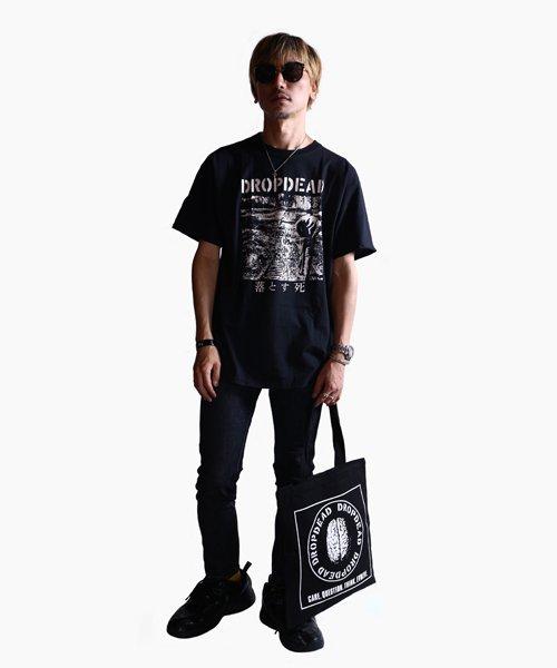 Official Artist Goods / バンドTなど  DROPDEAD / ドロップデッド:BRAIN TOTE BAG (BLACK)商品画像7