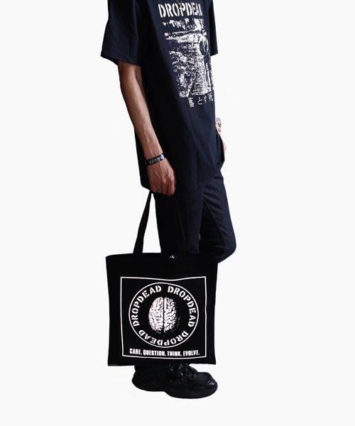 Official Artist Goods / バンドTなど  DROPDEAD / ドロップデッド:BRAIN TOTE BAG (BLACK)商品画像9