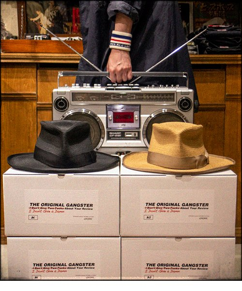 """RALEIGH / ラリー(RED MOTEL / レッドモーテル)   THE ORIGINAL GANGSTER """"I Don't Give a Damn"""" BLADE HAT(BEIGE)商品画像11"""