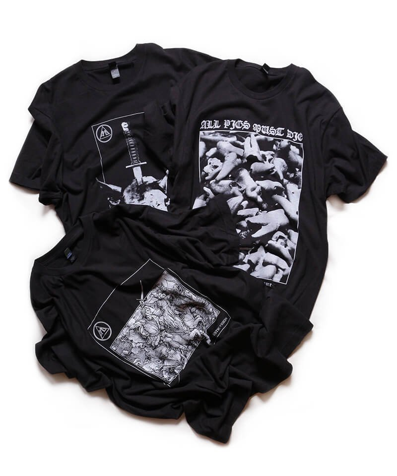 Official Artist Goods / バンドTなど |ALL PIGS MUST DIE (APMD) / オール ピッグス マスト ダイ:A CAUSTIC VISION T-SHIRT (BLACK)商品画像5