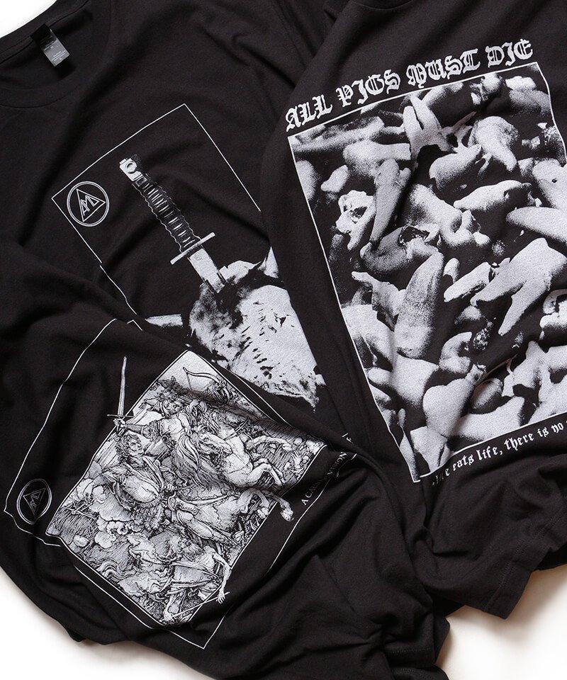 Official Artist Goods / バンドTなど |ALL PIGS MUST DIE (APMD) / オール ピッグス マスト ダイ:A CAUSTIC VISION T-SHIRT (BLACK)商品画像6