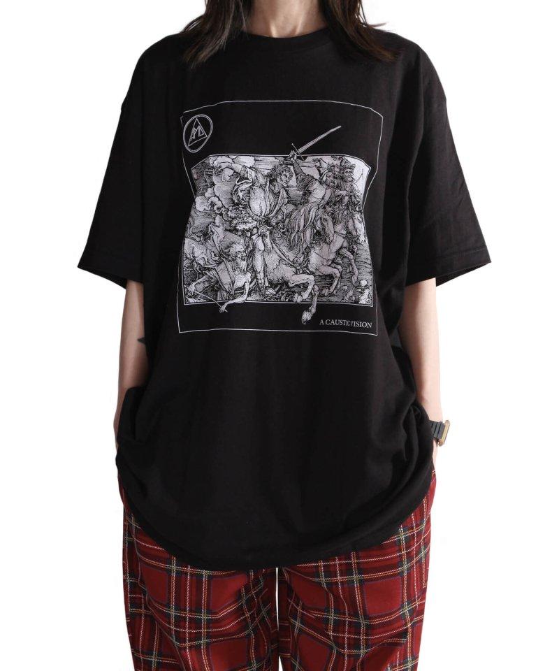 Official Artist Goods / バンドTなど |ALL PIGS MUST DIE (APMD) / オール ピッグス マスト ダイ:A CAUSTIC VISION T-SHIRT (BLACK)商品画像8