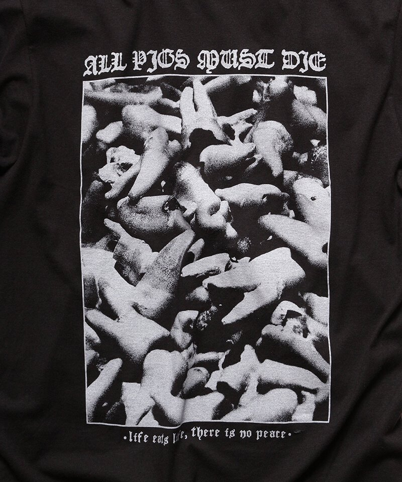 Official Artist Goods / バンドTなど |ALL PIGS MUST DIE (APMD) / オール ピッグス マスト ダイ:LIFE EATS LIFE T-SHIRT (BLACK)商品画像1