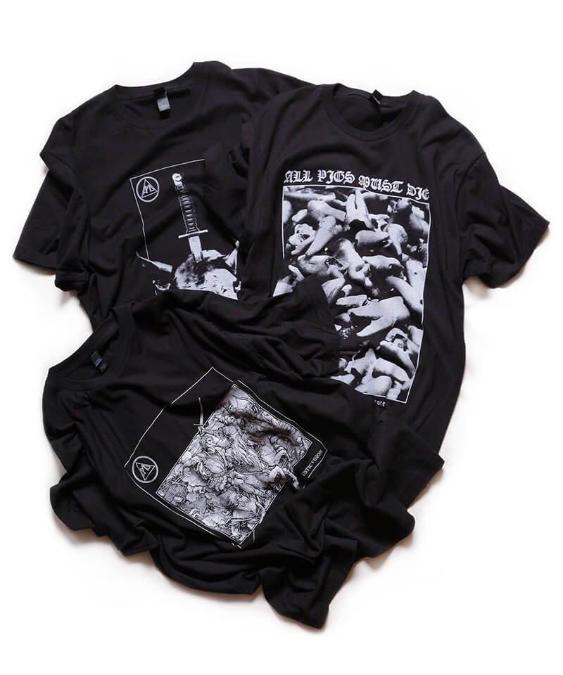 Official Artist Goods / バンドTなど |ALL PIGS MUST DIE (APMD) / オール ピッグス マスト ダイ:LIFE EATS LIFE T-SHIRT (BLACK)商品画像4