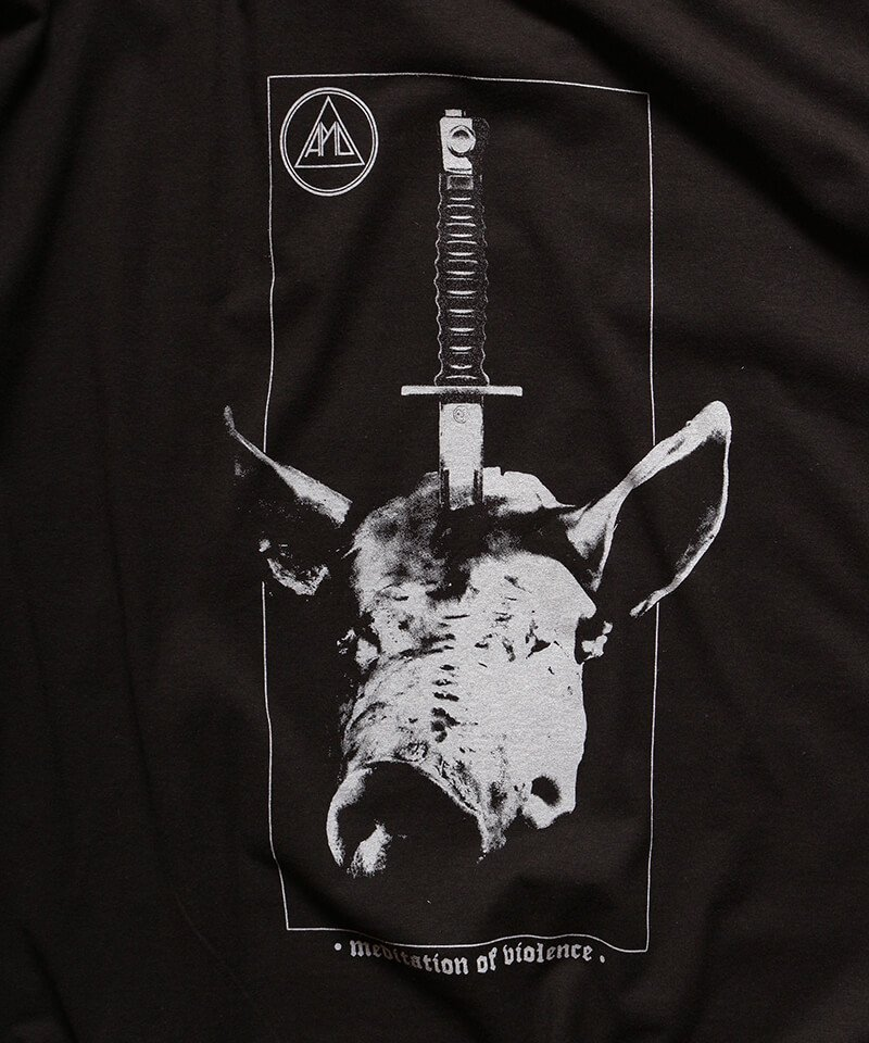 Official Artist Goods / バンドTなど |ALL PIGS MUST DIE (APMD) / オール ピッグス マスト ダイ:MEDITATION OF VIOLENCE T-SHIRT (BLACK) 商品画像1