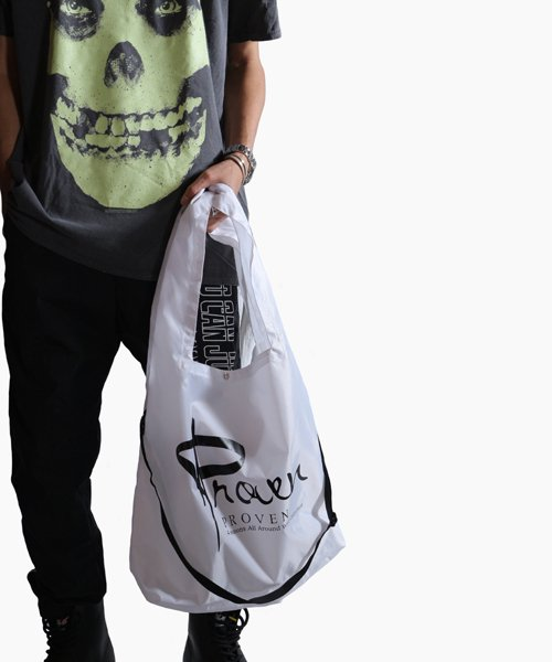 Official Artist Goods / バンドTなど  SIDEMILITIA inc. / サイドミリティア  RIP-STOP  SHOULDER MARCHE ECO BAG(WHITE)商品画像10