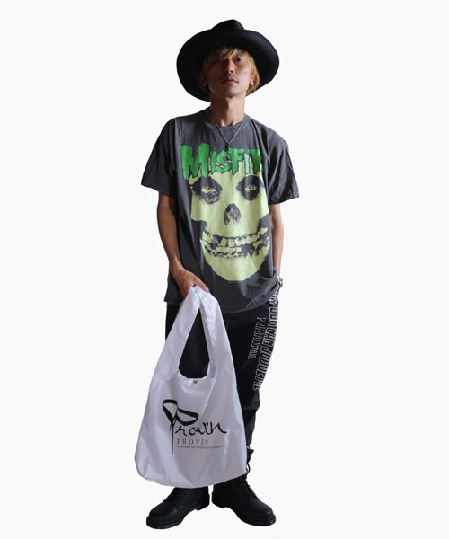 Official Artist Goods / バンドTなど  SIDEMILITIA inc. / サイドミリティア  RIP-STOP  SHOULDER MARCHE ECO BAG(WHITE)商品画像7