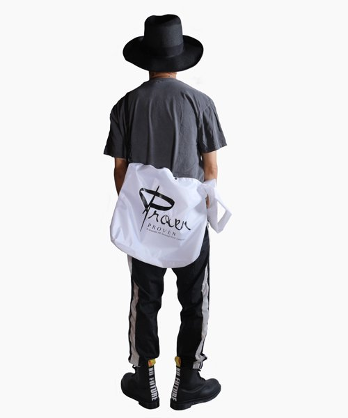 Official Artist Goods / バンドTなど  SIDEMILITIA inc. / サイドミリティア  RIP-STOP  SHOULDER MARCHE ECO BAG(WHITE)商品画像8
