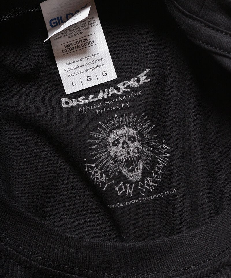 Official Artist Goods / バンドTなど  DISCHARGE / ディスチャージ:WHY? T-SHIRT (BLACK)商品画像1
