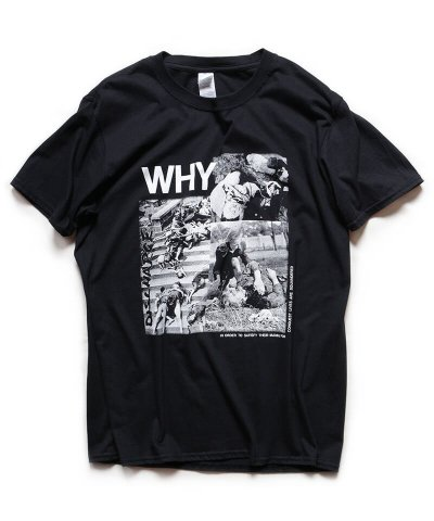Official Artist Goods / バンドTなど / DISCHARGE / ディスチャージ:WHY? T-SHIRT (BLACK)