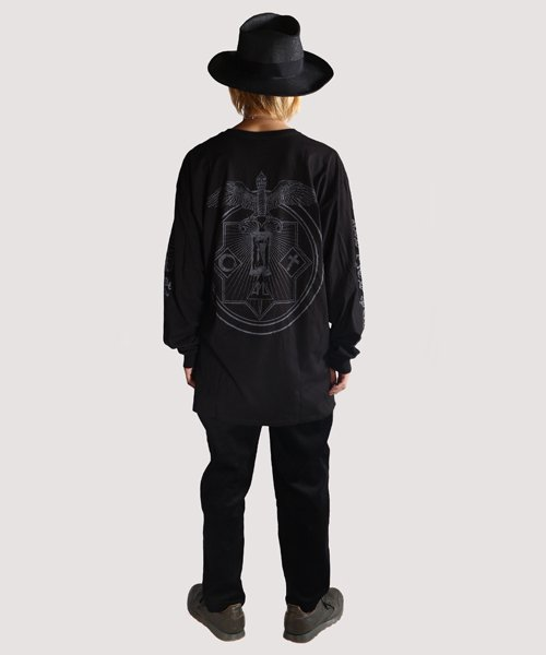 Official Artist Goods / バンドTなど |ALL PIGS MUST DIE (APMD) / オール ピッグス マスト ダイ:DEATH IN MY WAKE LONGSLEEVE SHIRT (BLACK)商品画像10