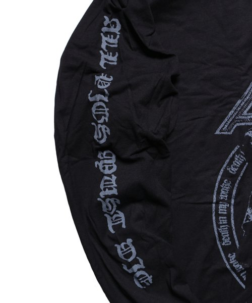 Official Artist Goods / バンドTなど |ALL PIGS MUST DIE (APMD) / オール ピッグス マスト ダイ:DEATH IN MY WAKE LONGSLEEVE SHIRT (BLACK)商品画像5