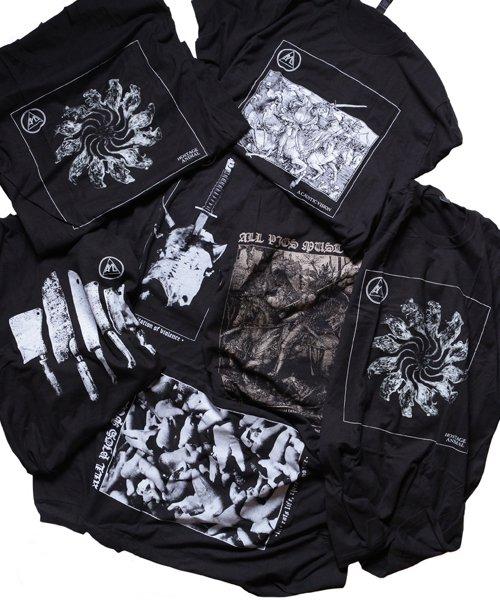 Official Artist Goods / バンドTなど |ALL PIGS MUST DIE (APMD) / オール ピッグス マスト ダイ:DEATH IN MY WAKE LONGSLEEVE SHIRT (BLACK)商品画像7