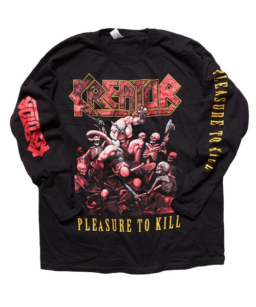 Official Artist Goods / バンドTなど | KREATOR / クリエイター・クリーター:PLEASURE TO KILL LONGSLEEVE SHIRT (BLACK)商品画像