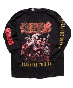Official Artist Goods / バンドTなど / KREATOR / クリエイター・クリーター:PLEASURE TO KILL LONGSLEEVE SHIRT (BLACK)