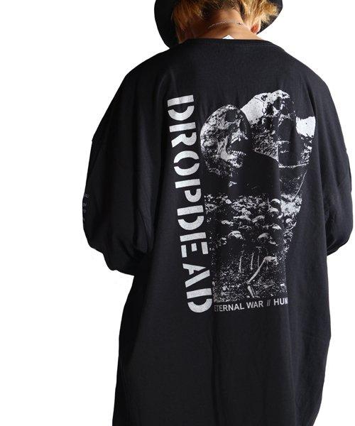 Official Artist Goods / バンドTなど  DROPDEAD / ドロップデッド:ETERNAL WAR LONGSLEEVE SHIRT (BLACK)商品画像13