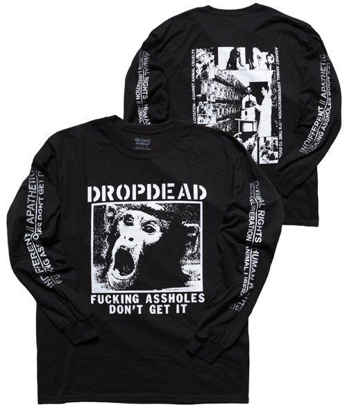 Official Artist Goods / バンドTなど | DROPDEAD / ドロップデッド:A×SHOLES DON'T GET IT LONGSLEEVE SHIRT (BLACK)商品画像