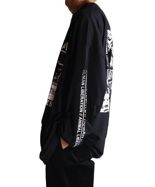 Official Artist Goods / バンドTなど |DROPDEAD / ドロップデッド:A×SHOLES DON'T GET IT LONGSLEEVE SHIRT (BLACK)商品画像15