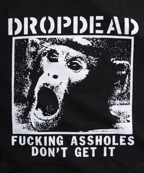 Official Artist Goods / バンドTなど |DROPDEAD / ドロップデッド:A×SHOLES DON'T GET IT LONGSLEEVE SHIRT (BLACK)商品画像3