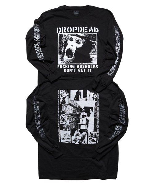 Official Artist Goods / バンドTなど |DROPDEAD / ドロップデッド:A×SHOLES DON'T GET IT LONGSLEEVE SHIRT (BLACK)商品画像7