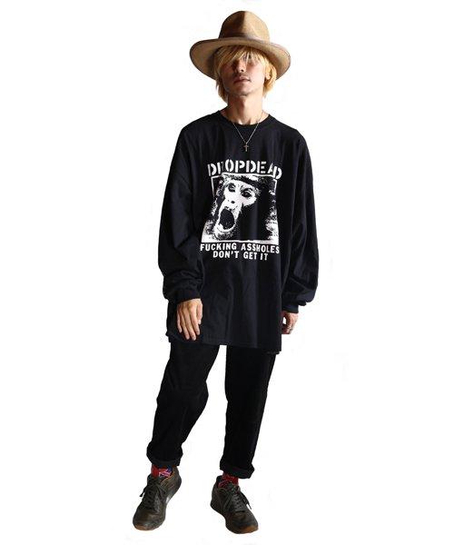 Official Artist Goods / バンドTなど |DROPDEAD / ドロップデッド:A×SHOLES DON'T GET IT LONGSLEEVE SHIRT (BLACK)商品画像8