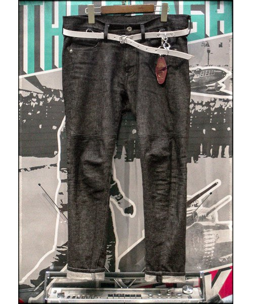 "RALEIGH / ラリー(RED MOTEL / レッドモーテル) | ""龍動黒騎"" Reverse Weave BLACK SLIM (LDN1977) with ""英吉利旗"" UNION… 商品画像16"