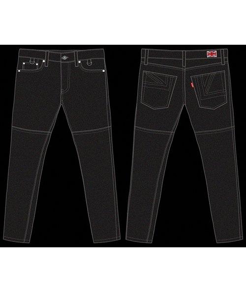 "RALEIGH / ラリー(RED MOTEL / レッドモーテル) | ""龍動黒騎"" Reverse Weave BLACK SLIM (LDN1977) with ""英吉利旗"" UNION… 商品画像17"