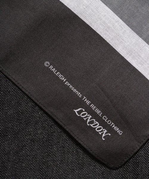"RALEIGH / ラリー(RED MOTEL / レッドモーテル) | ""龍動黒騎"" Reverse Weave BLACK SLIM (LDN1977) with ""英吉利旗"" UNION… 商品画像6"