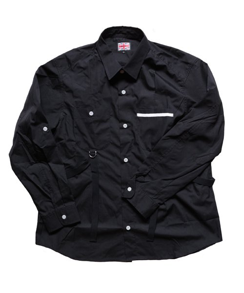 """RALEIGH / ラリー(RED MOTEL / レッドモーテル)    """"ROMANTICISM"""" DRESS CODE OR HARNESS UP SHIRTS(BK)商品画像"""
