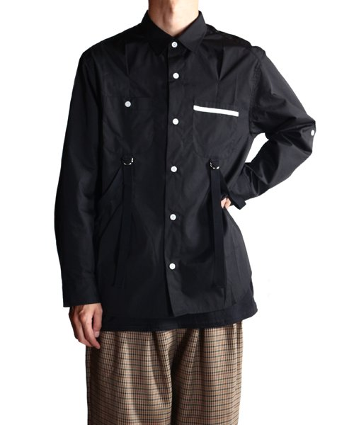 """RALEIGH / ラリー(RED MOTEL / レッドモーテル)   """"ROMANTICISM"""" DRESS CODE OR HARNESS UP SHIRTS(BK)商品画像19"""