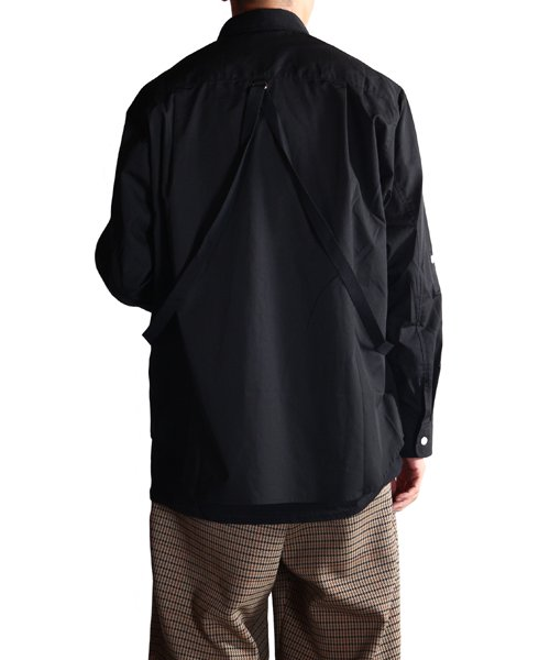 """RALEIGH / ラリー(RED MOTEL / レッドモーテル)   """"ROMANTICISM"""" DRESS CODE OR HARNESS UP SHIRTS(BK)商品画像20"""